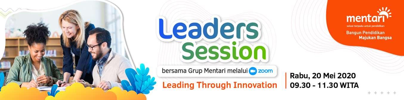 Leaders Session bersama Grup Mentari melalui Aplikasi Zoom