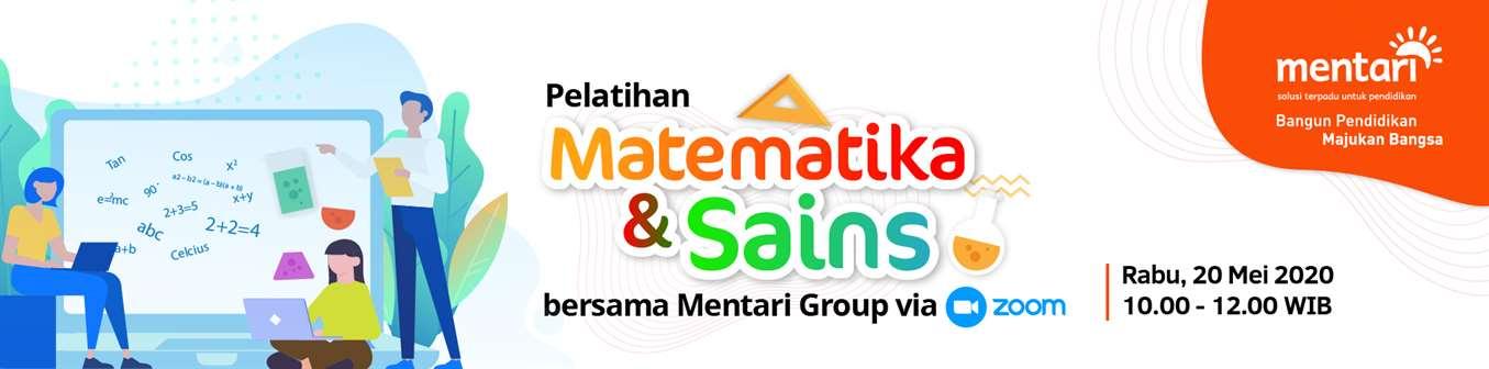 Pelatihan Matematika dan Sains bersama Mentari Group via Zoom